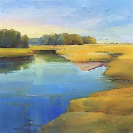 "Holly Ready | Summer Calm | Oil on Canvas | 30"" X 30"" 