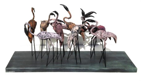 Set of 11 Flamingos