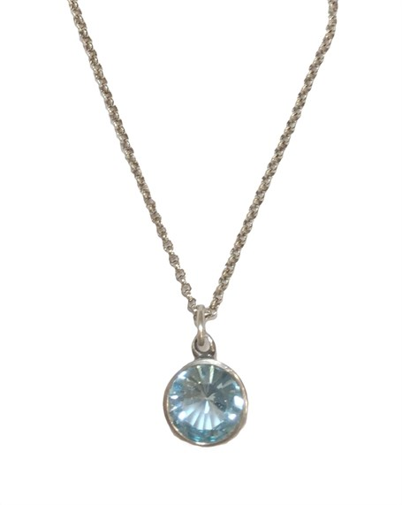 Pendant - Splash of Blue Topaz Pe-719-12