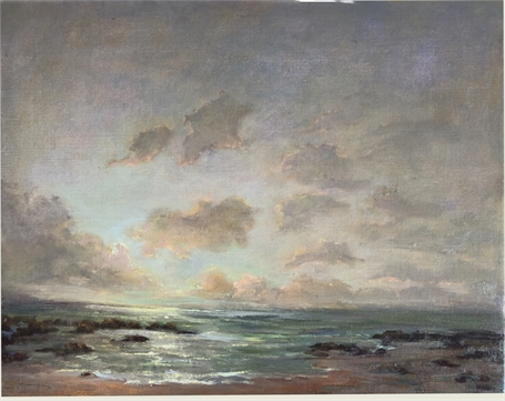 "Julie Houck | Last Light, North Shore | Oil on Linen | 16"" X 20"" 