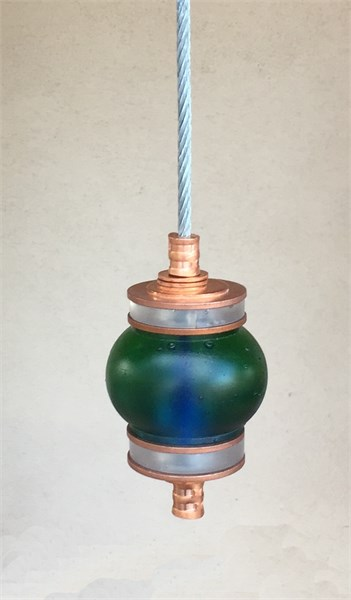 Hanging Totems - Single Ball - Bottle Green & Frost Cast Glass