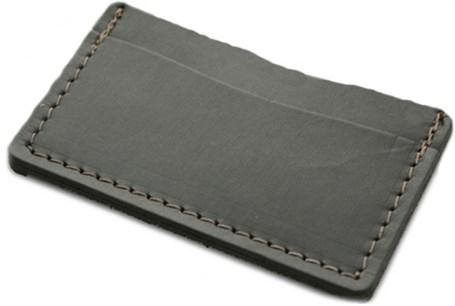 Leather Single Track Wallet - Black  RU24