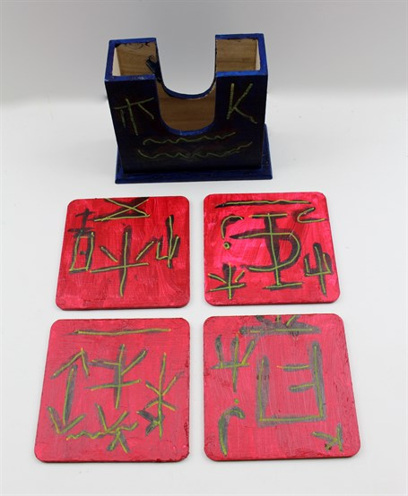 Blue and Red (coaster set)