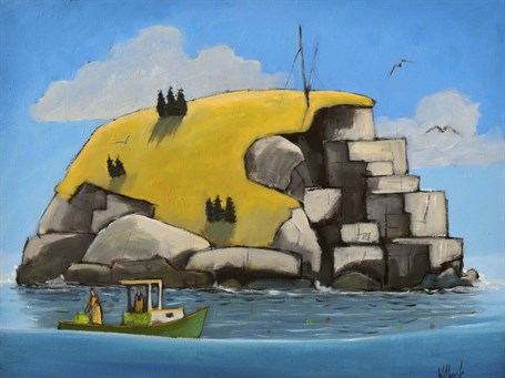 "David Witbeck | Granite Island | Oil on Canvas | 18"" X 24"" 