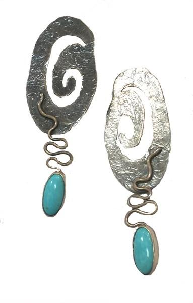 Earring - Sleeping Beauty Turquoise 2311