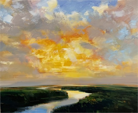 "Craig Mooney | Warm Glow | Oil on Canvas | 48"" X 60"" 