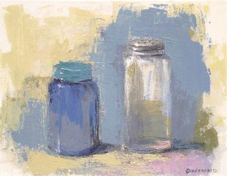 Still Life (Blue Jar & Salt Shaker)