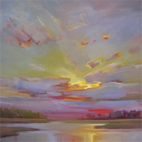 "Holly Ready | Late Day Whispers | Oil on Canvas | 30"" X 30"" 