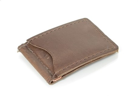 Leather Money Clip - Dark Brown RU19