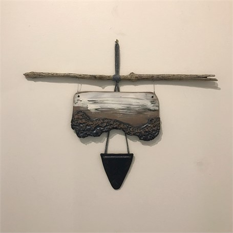 "Brendan Roddy | Large Wall Piece | Ceramic, Drift Wood | 18"" X 23"" 