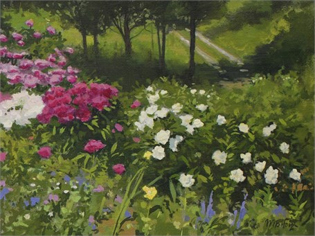 "William B. Hoyt | Garden with Driveway | Oil | 6"" X 8"" 