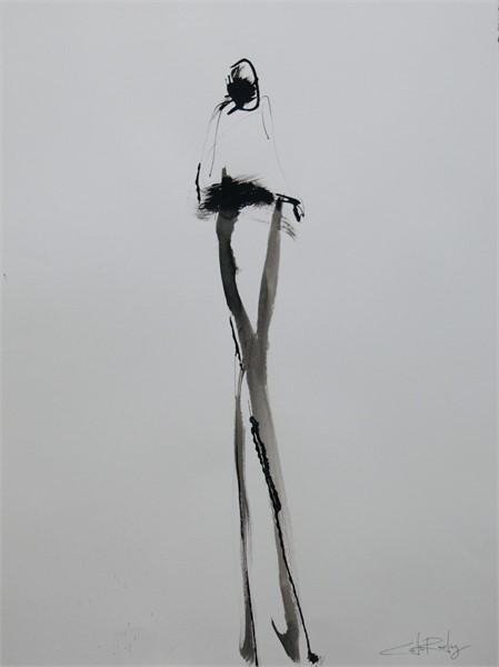 Large Black Figure