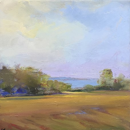 "Holly Ready | Summer Field | Oil on Canvas | 12"" X 12"" 