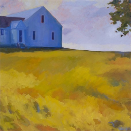 "Anne Ireland | Island Farm | Oil | 36"" X 36"" 