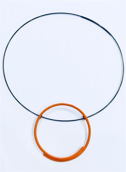 Necklace: Single Orange Circle