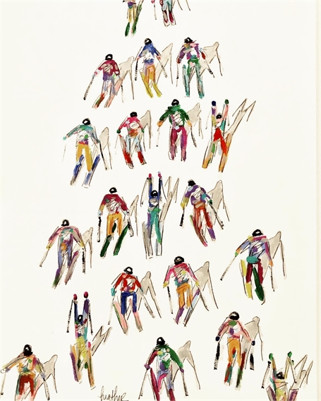 Skiers on Paper
