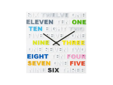 Wall Clock - Multi Color One, Two & Three