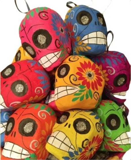 Ornaments - Colorful Paper Mache Calaveras