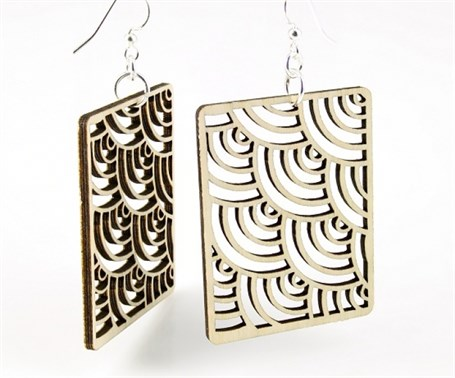 Earrings - Modern Square 1384