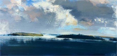 "Craig Mooney | Tempestuous Sky | Oil | 17.5"" X 36"" 