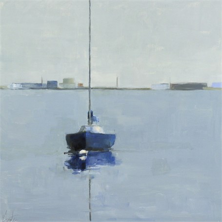 "Ellen Welch Granter | Harbor Perception | Oil on Panel | 20"" X 20"" 