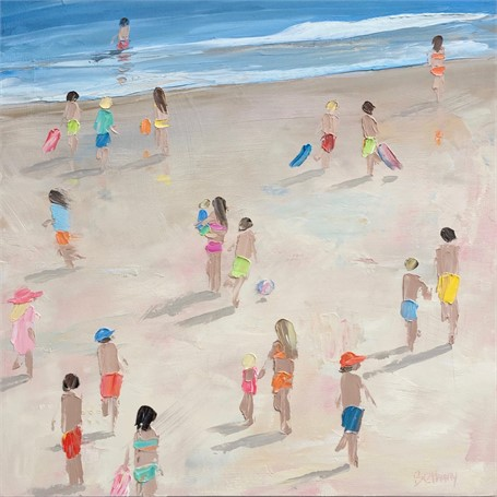 "Bethany Harper Williams | Barefoot and Free | Oil | 25"" X 25"" 