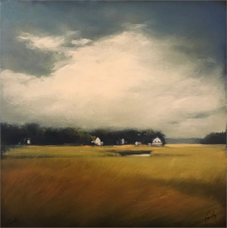 "Margaret Gerding | Road to Goose Rocks II | Oil on Panel | 16"" X 16"" 