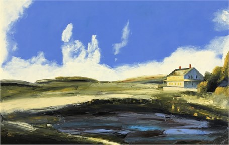 "Janis H. Sanders | Marsh Tide | Oil on Canvas | 40"" X 60"" 