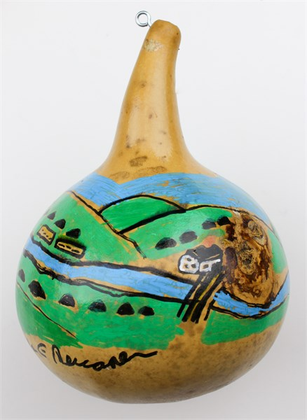 Home by the River Gourd (ornament)