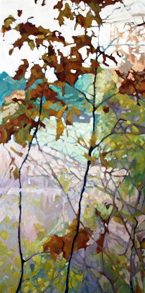 "Liz Hoag | Change of Season | Acrylic | 72"" X 36"" 
