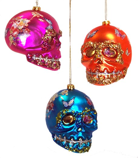 Ornament - Sugar Skull, Assorted bright colors