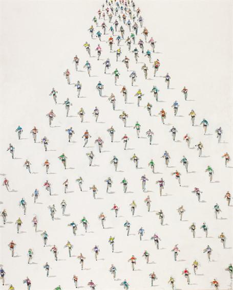 #410 Large Marathon on White