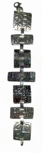 Bracelet - Silver Geometric Link (2103)