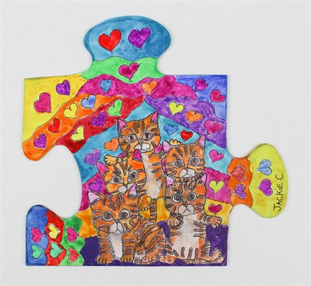 Kitten Love Puzzle Piece