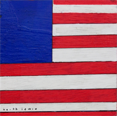 Coaster with American Flag and Green Star (1)