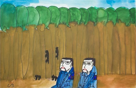 Squirrels with  Trees and Psychologists (FRAMED)
