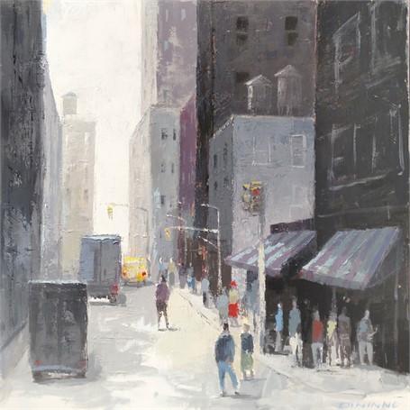 Downtown Manhattan Street Scene