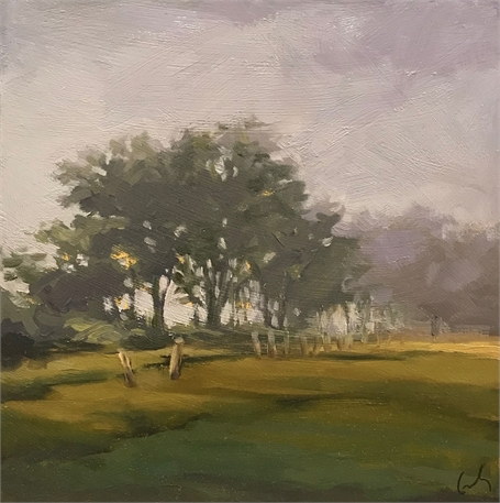 "Margaret Gerding | Bridle Path View II | Oil on Panel | 8"" X 8"" 