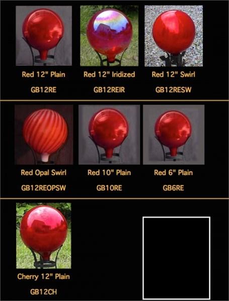 Gazing Globe - Punxsutawney Red Iridized - 12