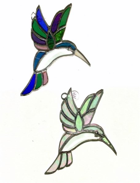 Stained Glass Hummingbird with Prism