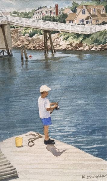 Boy Fishing on Perkins Cove