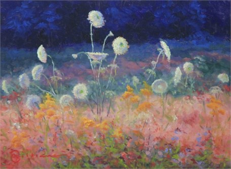 "Abbie Williams | Queen Anne's Lace | Oil | 12"" X 16"" 