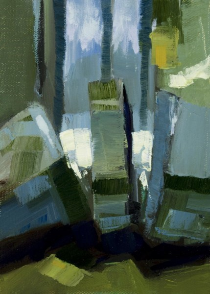 "Philip Frey | Split | Oil on Linen Panel | 5"" X 7"" 