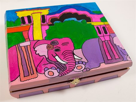 Pink Elephants (cigar box)