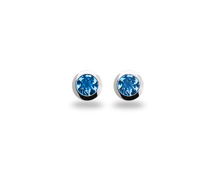 Earring - Sterling Silver & Sky Blue Topaz