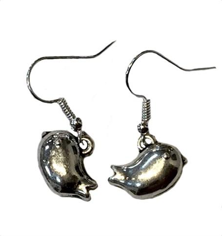 Earrings-Plump Birds