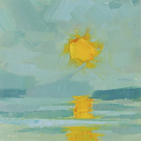 "Philip Frey | Sun Up | Oil | 6"" X 6"" 