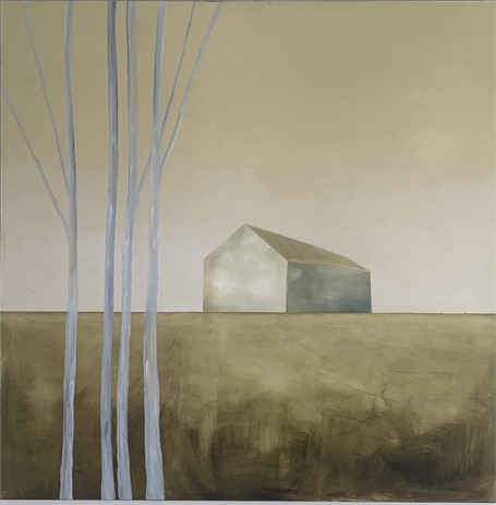 "Ingunn Milla Joergensen | Golden Field | Oil on Canvas | 48"" X 48"" 