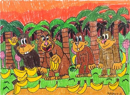 Monkey Jungle Banana