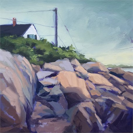 "Margaret Gerding | Morning Light-Day 9 | Oil on Panel | 8"" X 8"" 